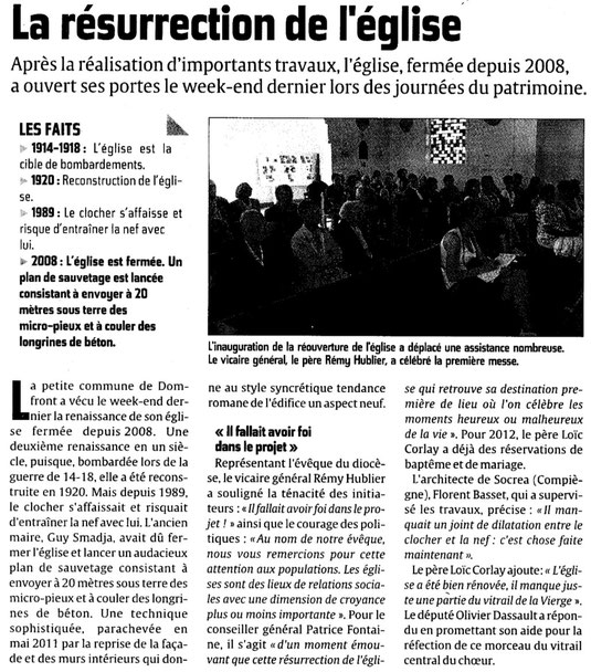 Courrier picard du 21 septembre 2011