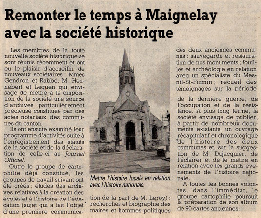 Le Courrier Picard du 29 avril 1991