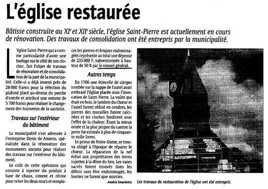Courrier picard du 23 août 2001