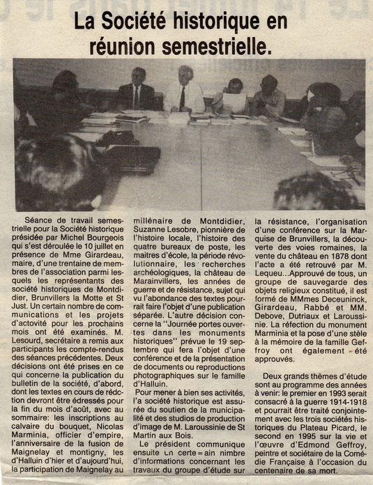 Le Bonhomme picard du 23 juillet 1992