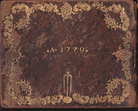 Rückseite des Stammbuches G. F. Pirscher