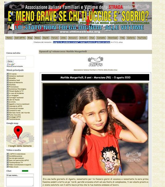 dal sito www.vittimestrada.org, cliccare per andare al sito.