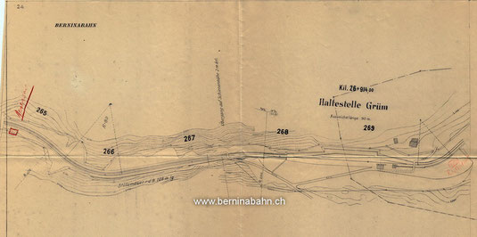 399-001 Plan Alp Grüm, ca 1910 (Archiv RhB)