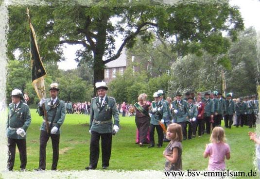 Emmelsumer Schützen beim 150-jährigen Jubiläum des BSV Möllen