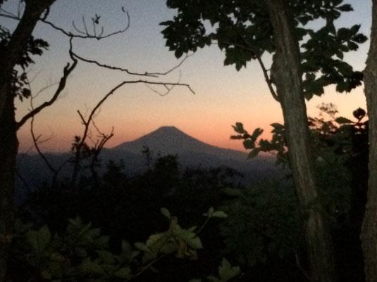 富士山を見ながら食事タイム。