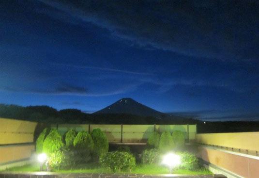 世界文化遺産 富士山の夕景写真