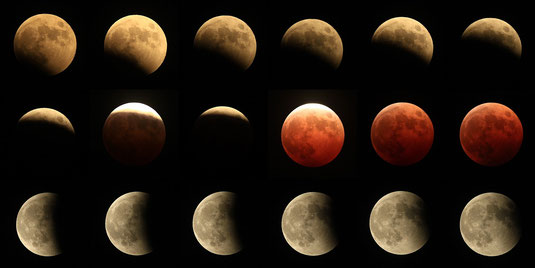 2014年10月8日の皆既月食の写真2