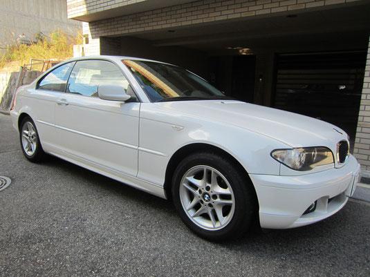 BMW318CIクーペ の センターコンソールボックス の 傷・塗装剥げ(めくれ)・塗装べたつき(ベタベタ)のリペア(修理・修復・再生)、車両全景写真
