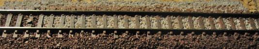 Peco Gleis Code 55 Muster für Farbe und Schotter