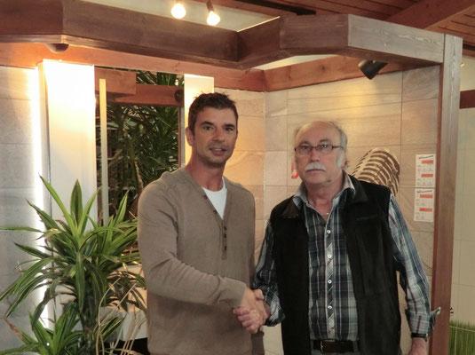 1. Vorstand Gerhard Lindner und Firmeninhaber Peter Opel