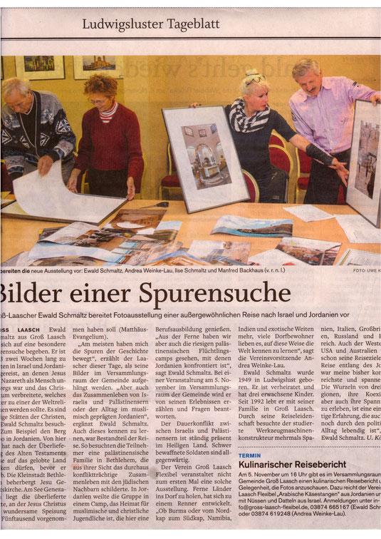 Andrea Weinke_Lau_SVZ_am_29.10.2015_Ludwigsluster_Tageblatt