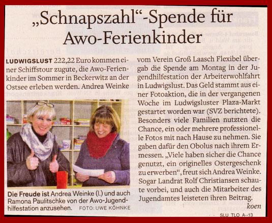 Andrea Weinke - Spendenübergabe AWO
