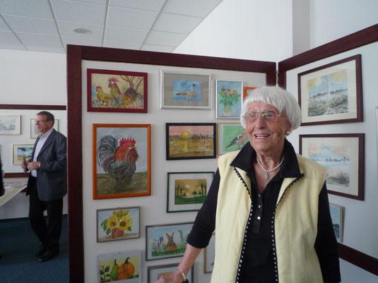 während einer Ausstellung im Rosenhof