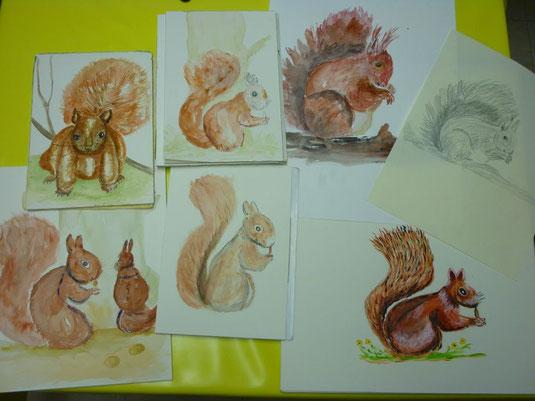 Thema des Abends: Eichhörnchen