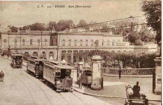 Gare de Rouen où Gustave, le père de Jules Durand, tenta de se jeter sous un train après la condamnation à mort de son fils.