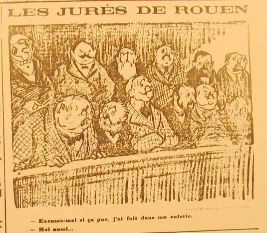 """dessin caricatural paru dans le journal """"Le Progrès"""""""