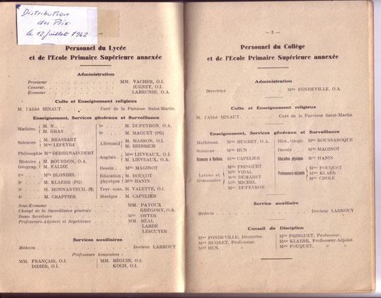 Seul document sur l'année 1942