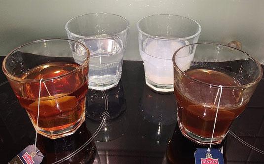 Tee und Wassertest
