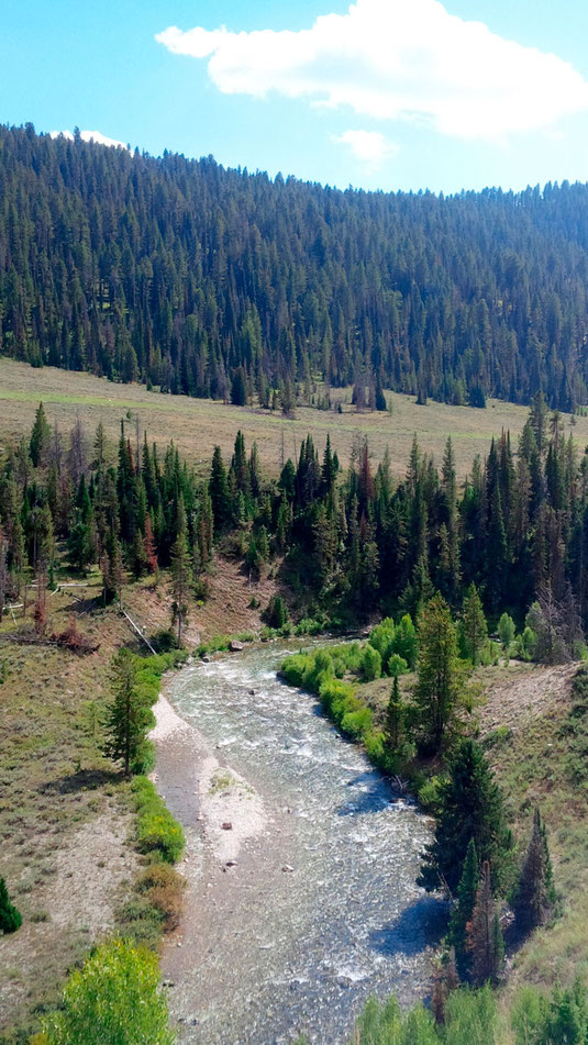 The Hoback River, Wyoming