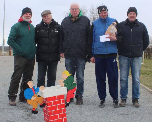 Bernd R., Bernd L., Joachim, Ralph und Dieter siegten dreifach