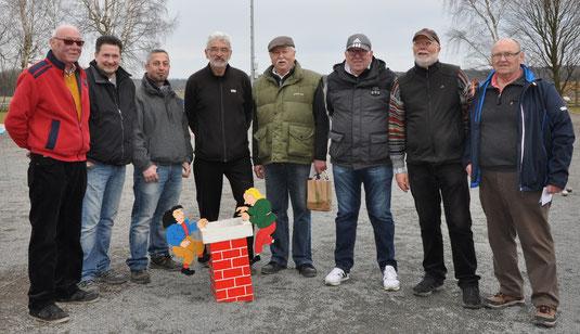 Der ungeschlagene Achter: Uwe, Arnd, Sati, Drago, Bernd L., Werner, Bernd O. und Hartmut