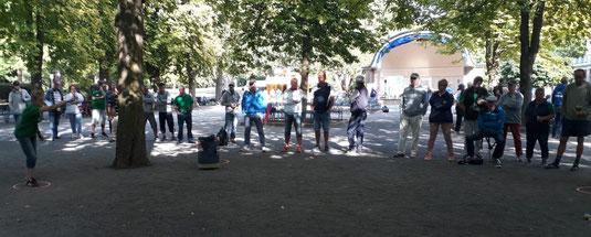 Lockte reichlich Zuschauer an: Barbaras Viertelfinale im Kurpark von Bad Eilsen