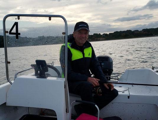 Gut gefangen: Thomas beim Angeln in Dänemark