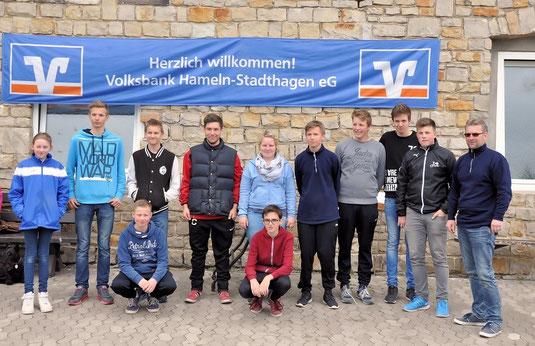 Die Teilnehmer und der Jugendwart bei der LM Jugend in Wiedensahl