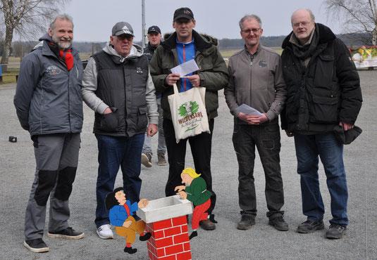 Die Besten: Kai, Werner, Thomas, Andreas und Paul