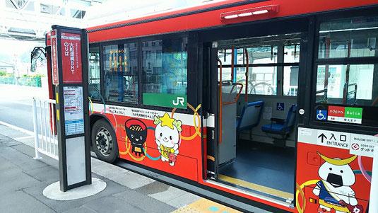 JR気仙沼駅のBRT乗り場です。おなじみのキャラたち^^