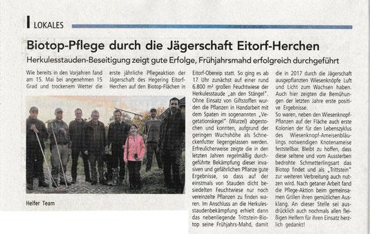 Quelle: Mitteilungsblatt Windeck 31. Mai 2019