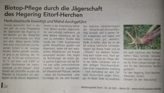 Quelle: Mitteilungsblatt Eitorf 02. Juli 2021