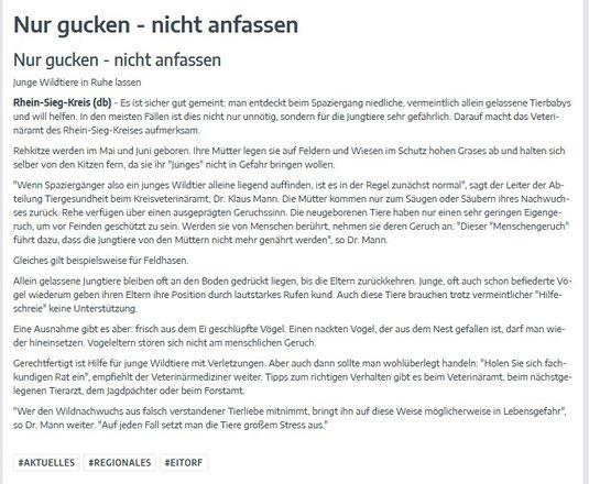 Quelle: www.unserort.de / Mitteilungsblatt Eitorf 01.05.2020