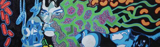 Gewebe, 2013, Mixed Media auf Karton, 0,25 x 0,5m