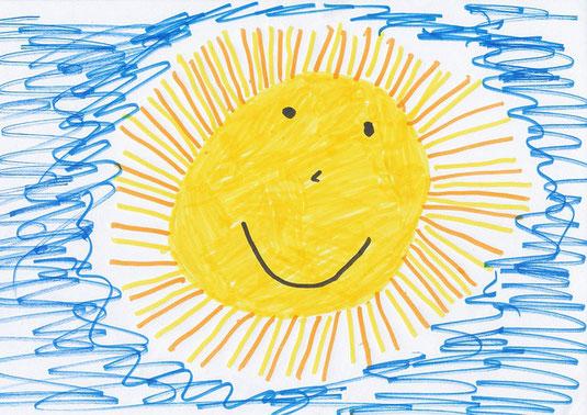 heilsames Malen, Sonne, Sonnenschein, Kreativtherapien, Sunshine is the best medicine, Sonne ist die beste Medizin, Seele baumelt, ganzheitliche Gesundheit, Selbstheilung, Malkurse online, Energiebilder malen