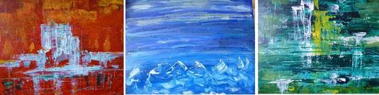 Feuer,Wasser,Eis, gemalt für eine Freundin