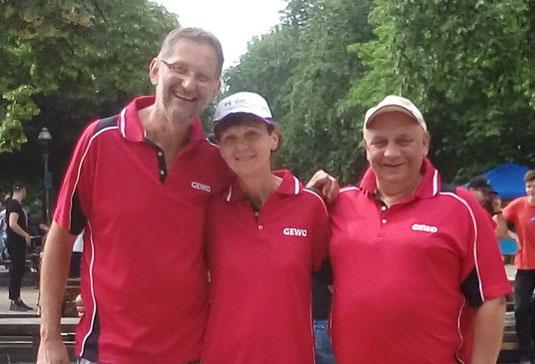 Das SSC-Triplette-Team v.l. Ralf, Petra, Helmut
