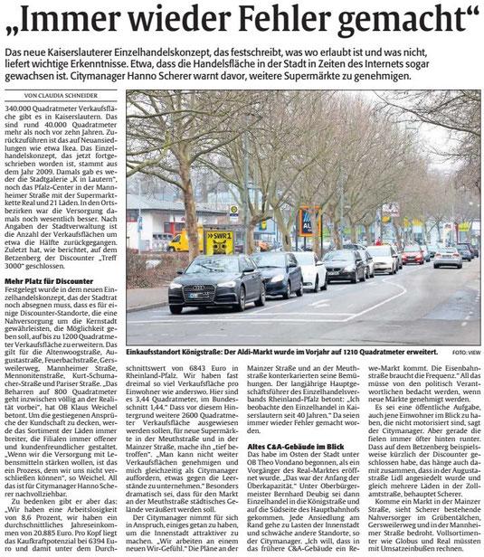 Verein für Baukultur und Stadtgestaltung Kaiserslautern e. V. - Einzelhandelskonzept