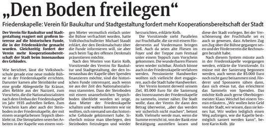 Verein für Baukultur und StadtgestaltungKaiserslautern e. V. - Friedenskapelle
