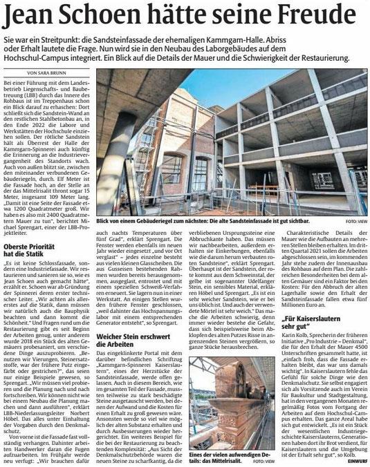 Verein für Baukultur und Stadtgestaltung Kaiserslautern e. V. - Kammgarn-Fassade