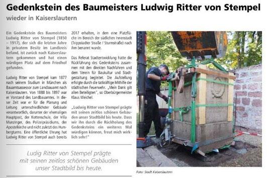 Verein für Baukultur und Stadtgestaltung Kaiserslautern e. V. - Riter von Stempel
