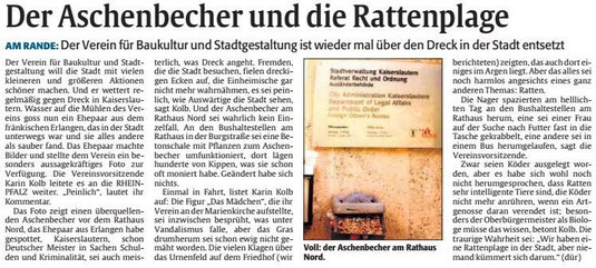 Verein für Baukultur und Stadtgestaltung Kaiserslautern e. V. - Ratten