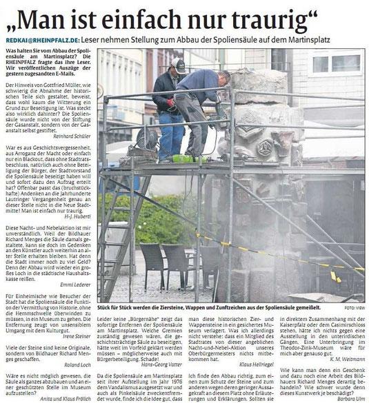 Verein für Baukultur und Stadtgestaltung Kaiserslautern e. V. - Spoliensäule 3