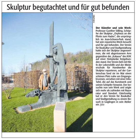 Verein für Baukultur und Stadtgestaltung Kaiserslautern - Orpheusstatue
