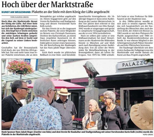 Verein für Baukultur und Stadtgestaltung Kaiserslautern e. V. - Info-Tafel