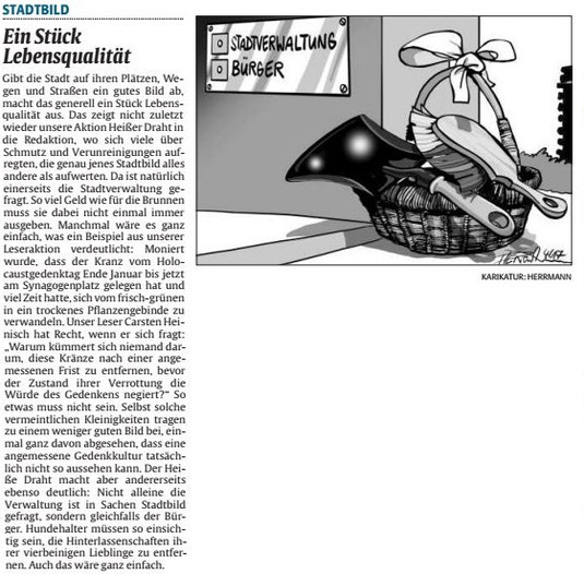 Verein für Baukultur und Stadtgestaltung Kaiserslautern e. V. - Verschmutzung