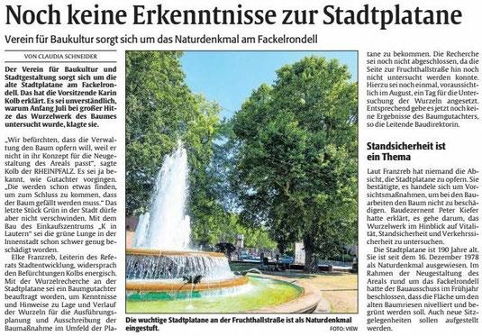 Verein für Baukultur und Stadtgestaltung Kaiserslautern - Stadtplatane