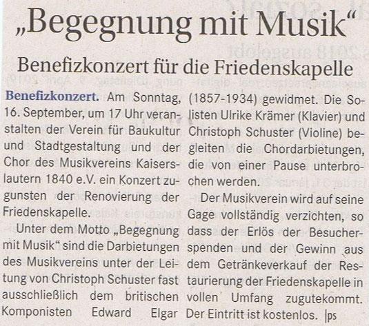 Verein für Baukutur und Stadtgestaltung Kaiserslautern e. V. - Friedenskapelle