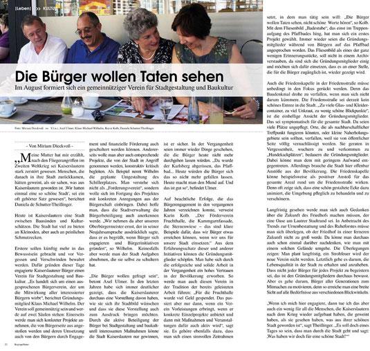 Verein für Baukultur und Stadtgestaltung e. V. Kaiserslautern - Regiogeflüster