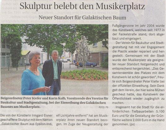 Verein für Baukultur und Stadtgestaltung Kaiserslautern e. V. - Galaktischer Baum